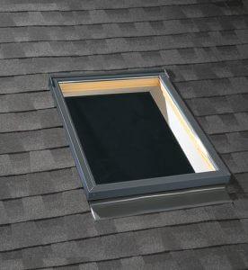 Sky light in shingled roof
